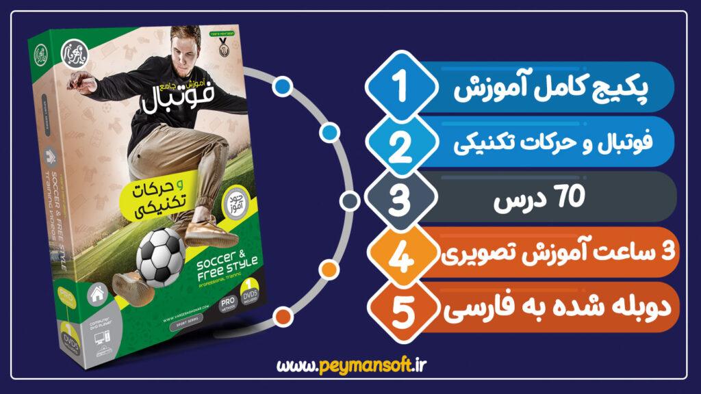 پکیج کامل آموزش فوتبال،آموزش فوتبال به زبان فارسی،آموزش فوتبال