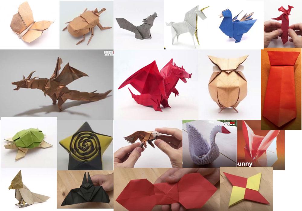 آموزش ساخت اوریگامی،اوریگامی قایق،اوریگامی قلب،اوریگامی اژدها