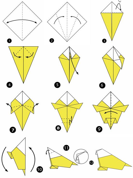 آموزش ساخت اوریگامی ساده،آموزش ساخت اوریگامی مرغ عشق