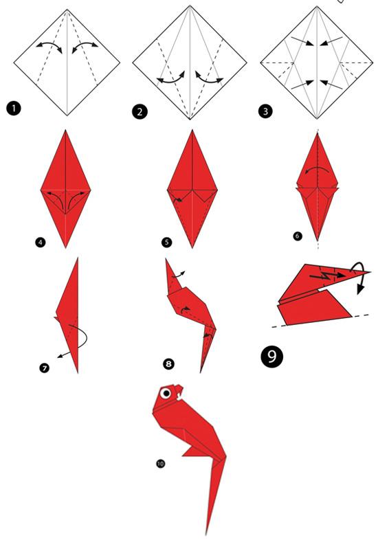 آموزش ساخت اوریگامی ساده،اوریگامی طوطی