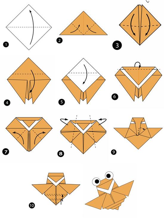 آموزش ساخت اوریگامی ساده،اوریگامی زنبور